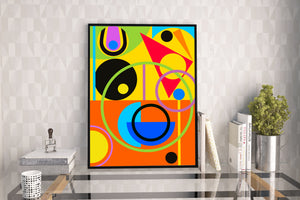Colour Rush A3 wall art print