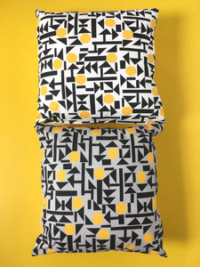 Compose Yellow cushion (on grey)