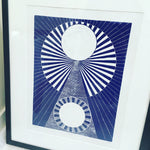 Load image into Gallery viewer, 'Infinite' A3 linocut print