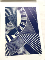 Load image into Gallery viewer, Original Linocut Print A5 (2 of 6)