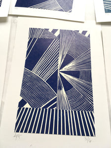 Original Linocut Print A5 (3 of 6)