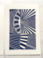 Load image into Gallery viewer, Original Linocut Print A5 (5 of 6)