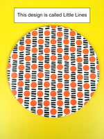Load image into Gallery viewer, Set of 6 Round Placemats - yellow and orange