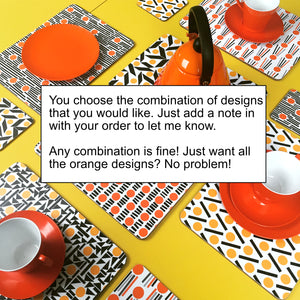 Set of 4 placemats, choose your favourites!