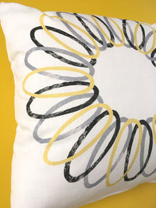 Yellow Spiral Cushion - 50% off!