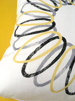 Load image into Gallery viewer, Yellow Spiral Cushion - 50% off!