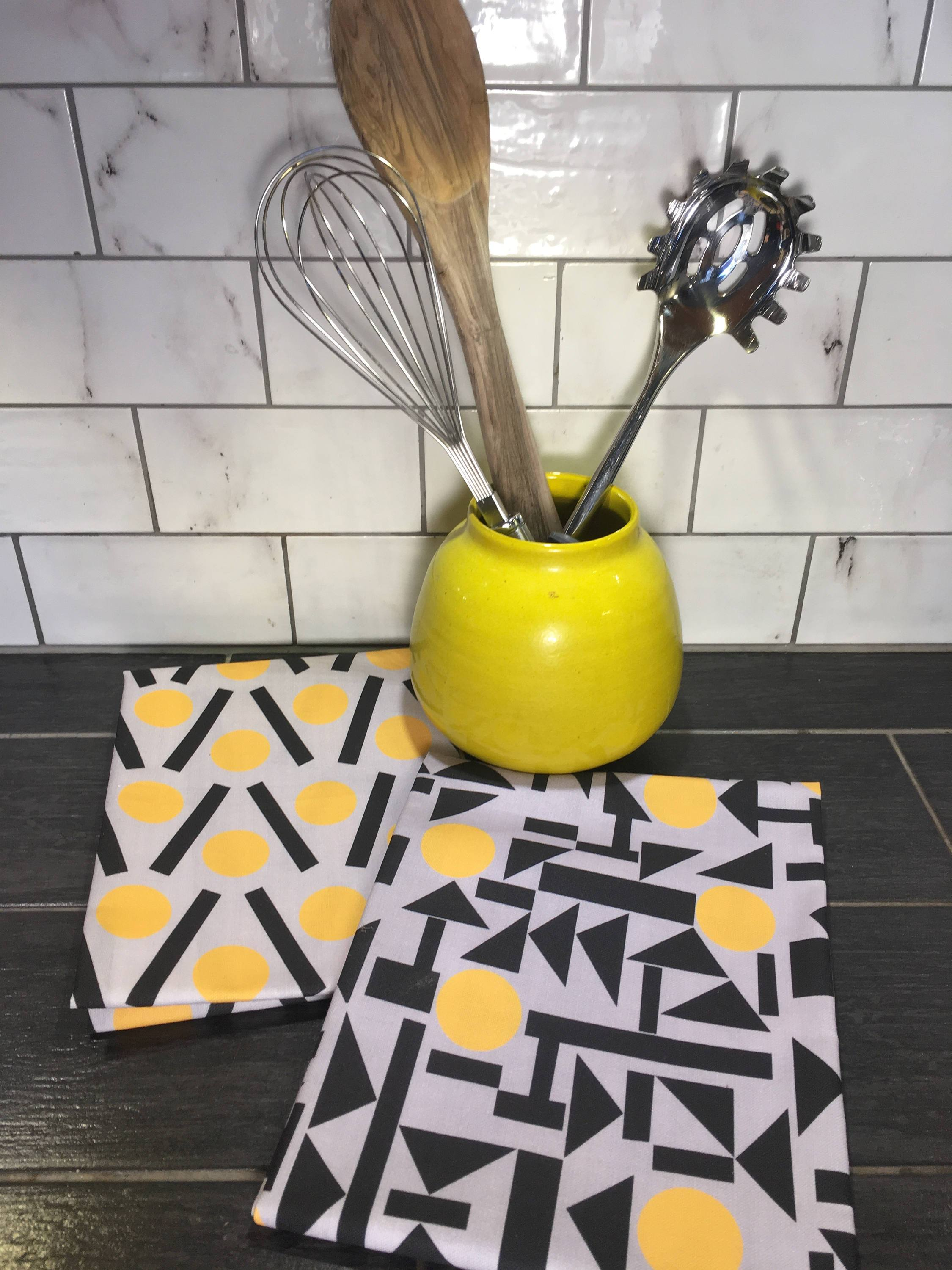yellow teatowel