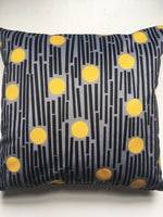 Load image into Gallery viewer, Linear square velvet cushion in Yellow