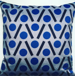 Load image into Gallery viewer, Chevron Square Velvet cushion in Blue