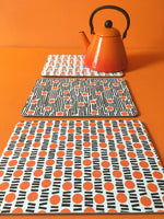 Load image into Gallery viewer, Orange cork placemats