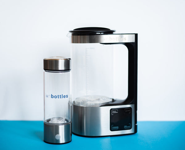 Home unit for creating hydrogen water