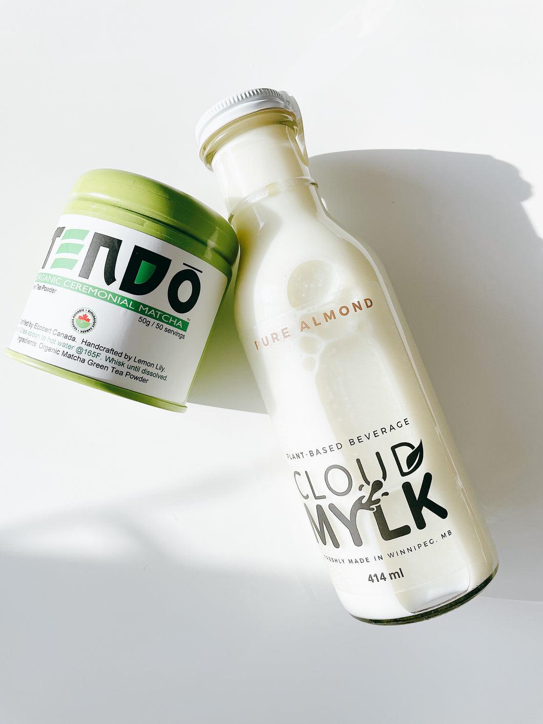 Pure Almond Mylk and Matcha package