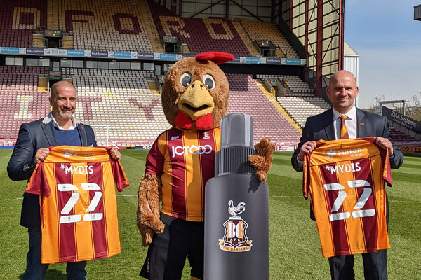 MYDIS, a new branch of International Water Solutions, is now the Official Disinfection partner of Bradford City AFC on Wednesday the 27th of April