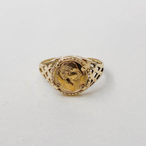 Vintage George & the Dragon Coin Ring VI