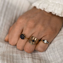 Load image into Gallery viewer, Vintage Opal & Sapphire Trio Ring