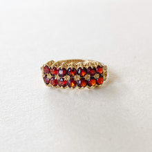 Load image into Gallery viewer, Vintage Garnet 2-Row ring