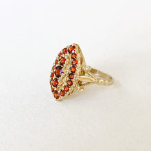 Load image into Gallery viewer, Vintage Garnet Marquise Ring