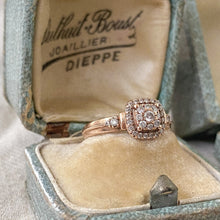 Load image into Gallery viewer, Vintage Rose Gold Diamond Engagement Ring