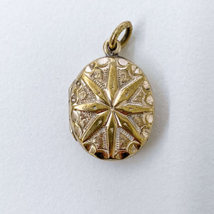 Vintage Star Oval Locket