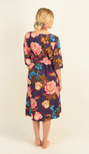 Load image into Gallery viewer, Navy Tulip Midi Dress
