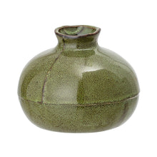 Load image into Gallery viewer, Olive Green Sculpted Vase