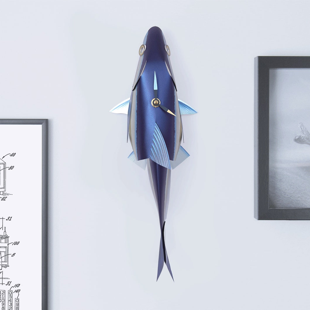 Bluefin Tuna Wall Clock
