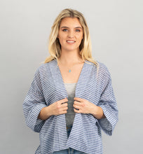 Load image into Gallery viewer, Chambray Stripe Kimono