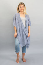 Load image into Gallery viewer, Chambray Stripe Throw Over
