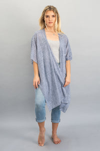 Chambray Stripe Throw Over