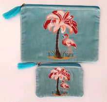 Load image into Gallery viewer, Flamingo Blue pouch