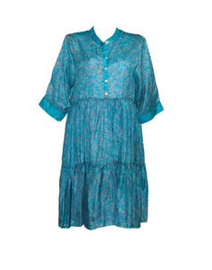 Prairie Silk Midi Dress Large