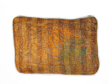 Load image into Gallery viewer, Kantha Silk Pouch