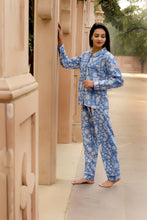 Load image into Gallery viewer, Cornflower Blue 3 Piece PJ Set