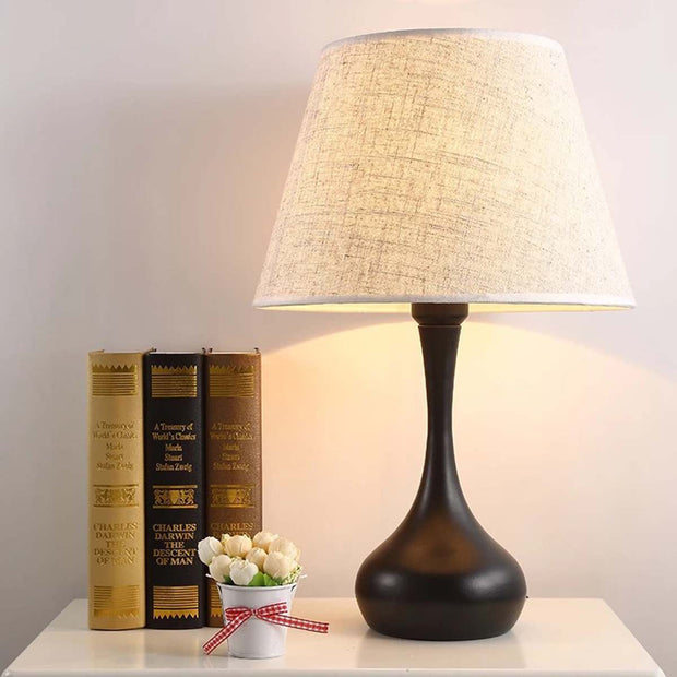 Rustic Fabric Shade Lamp