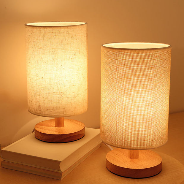 Wooden Shade Lamp