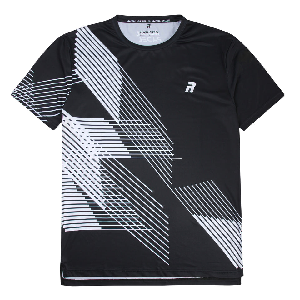 ROYAL PADEL MAGLIETTA DA UOMO DRI FIT - BLACK