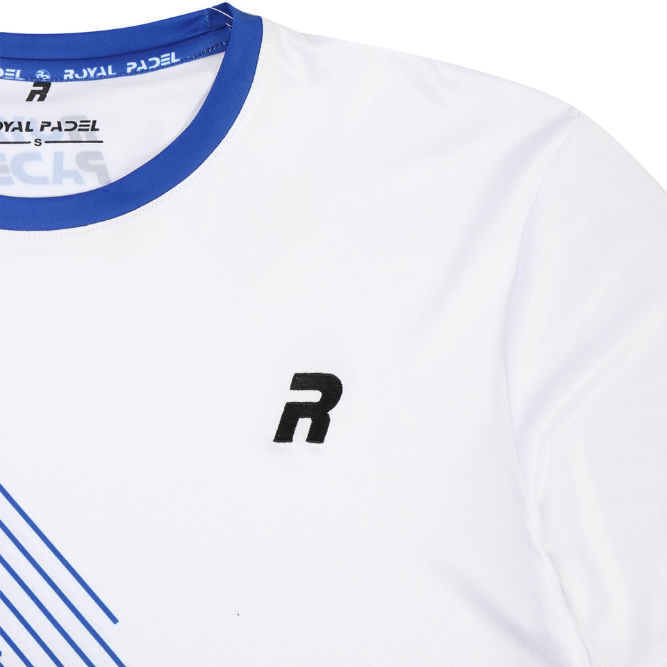 ROYAL PADEL MAGLIETTA DA UOMO DRI FIT - WHITE