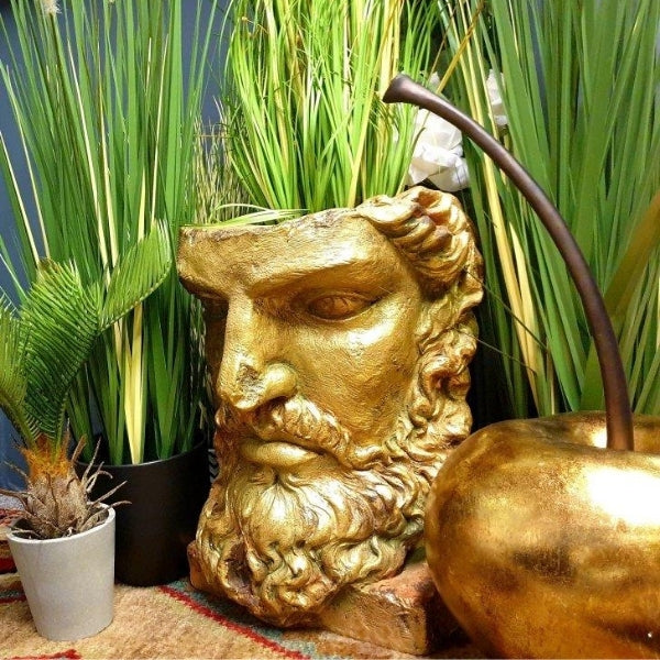 Antiqued gold planter