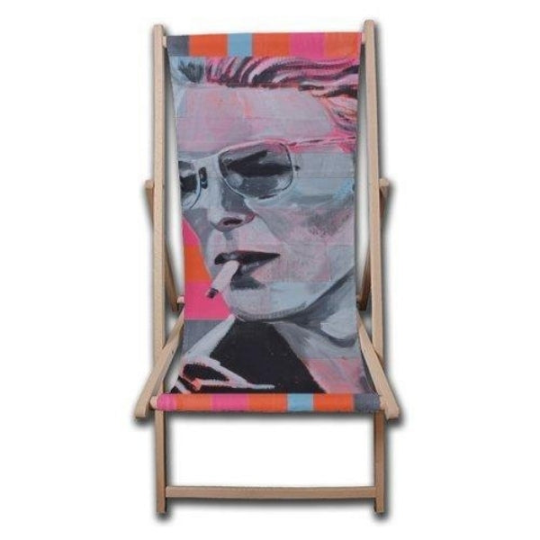 David Bowie Neon Deck Chair