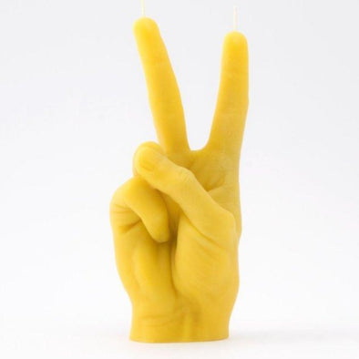 CandleHand Victory - Yellow Hand Gesture Candle - EMPORIUM WORTHING