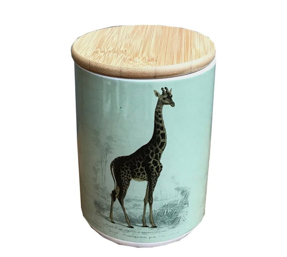 Ceramic Canister With Giraffe - EMPORIUM WORTHING