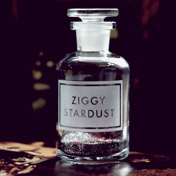 Gorgeous Etched Apothecary Glass Bottles : Ziggy Stardust - EMPORIUM WORTHING