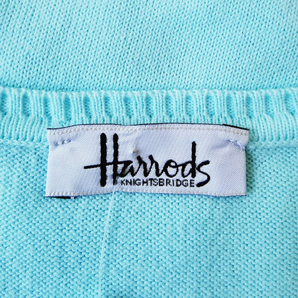 Harrods Pale Blue Sleeveless Jumper - EMPORIUM WORTHING