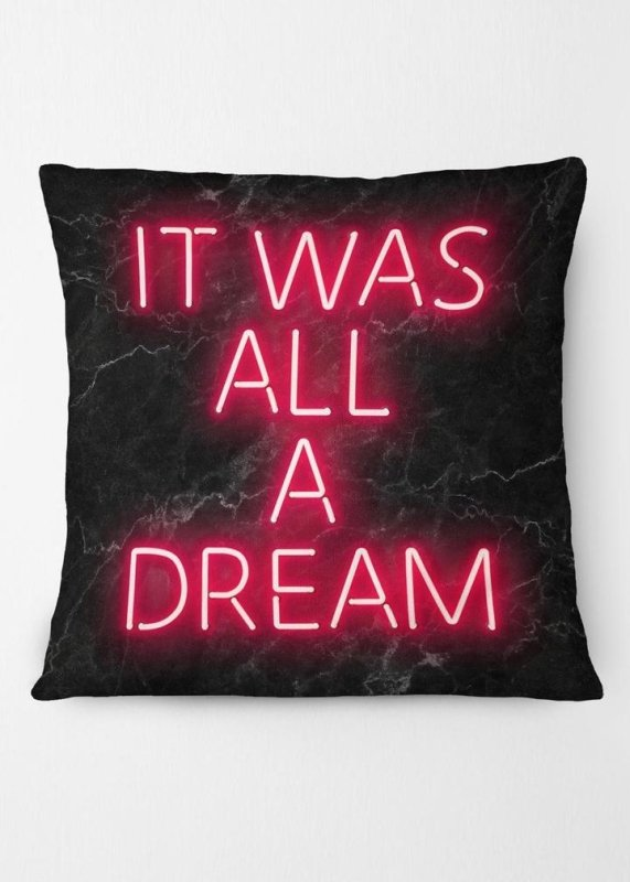 It Was All A Dream Notorious BIG Quote Neon Cushion - EMPORIUM WORTHING