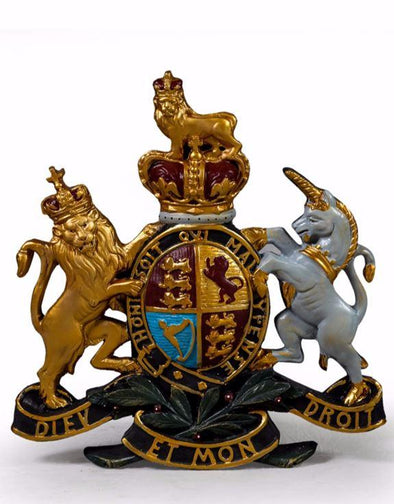 LARGE COLOURED COAT OF ARMS WALL PLAQUE - EMPORIUM WORTHING