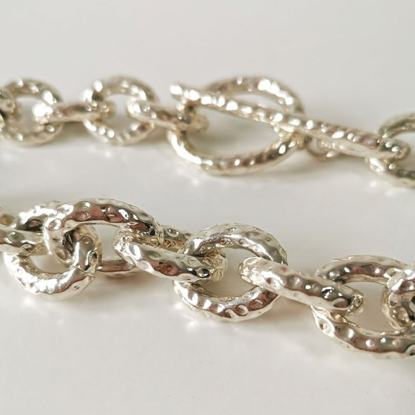 Mimco Silver Heavy Link Choker - EMPORIUM WORTHING