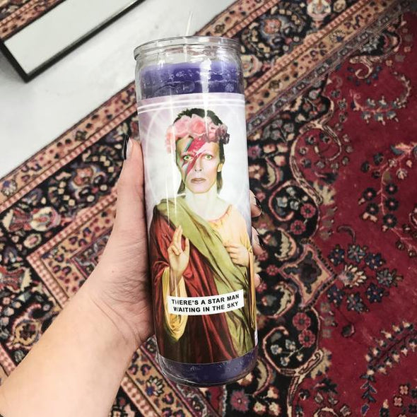 Saint David Bowie Prayer Candle - EMPORIUM WORTHING