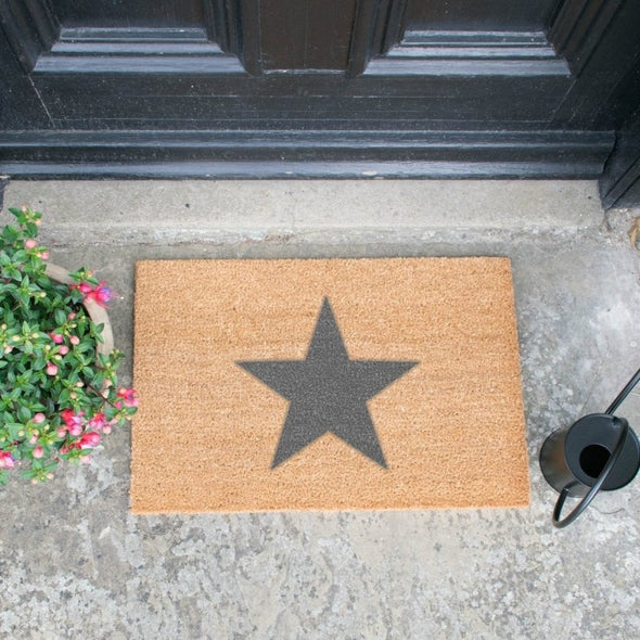 Star Grey Doormat - EMPORIUM WORTHING