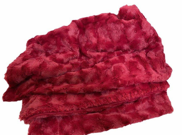 Stellan Fur Throw Claret - EMPORIUM WORTHING