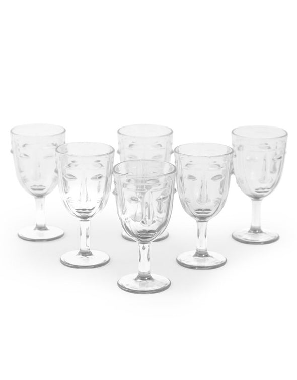 Stunning Art Deco Face Glasses - Clear - EMPORIUM WORTHING